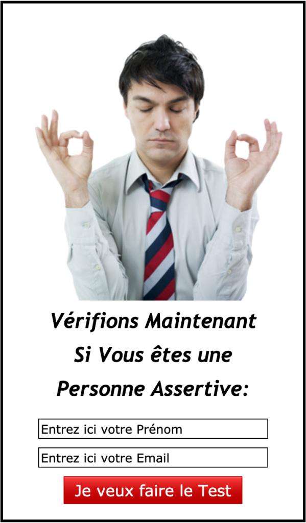 Formulaire d'inscription au test sur l'assertivité